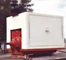 fiberglass double-door engine enclosure