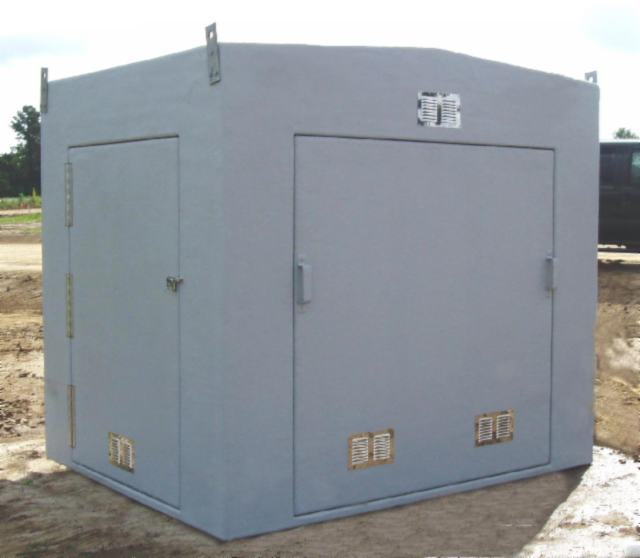 fiberglass insulated enclosure - removable door and single door